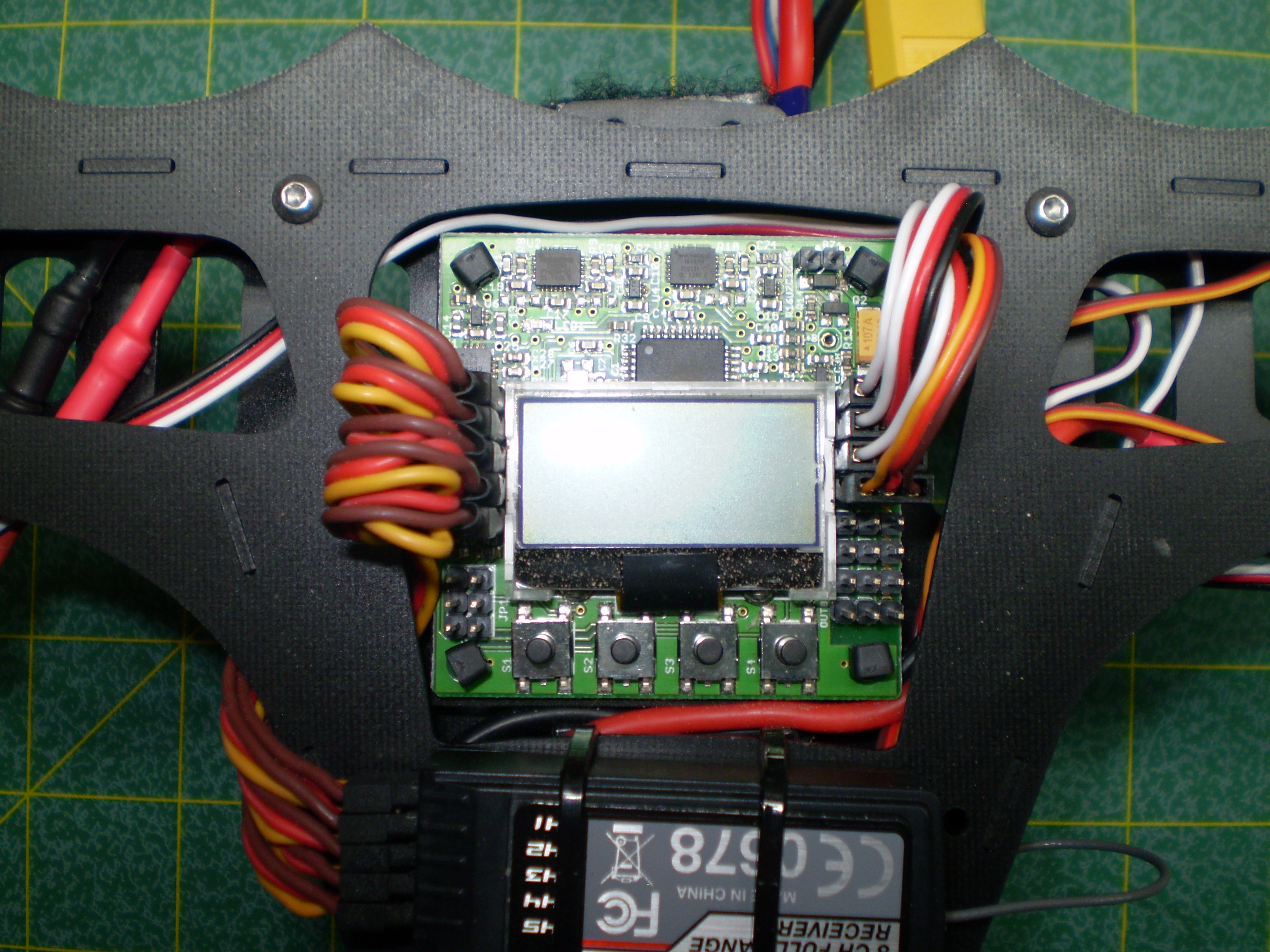 Kk2 15 Wiring Diagram Libraries Flight Controller Orangerx Libraryin This Setup The Power Harness Connects Battery To