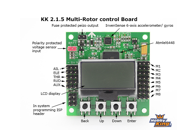 help to connect wires to kk2 1 5 flitetest forum rh forum flitetest com Black Quad Kk Controller Board Manual Kk Board Setup