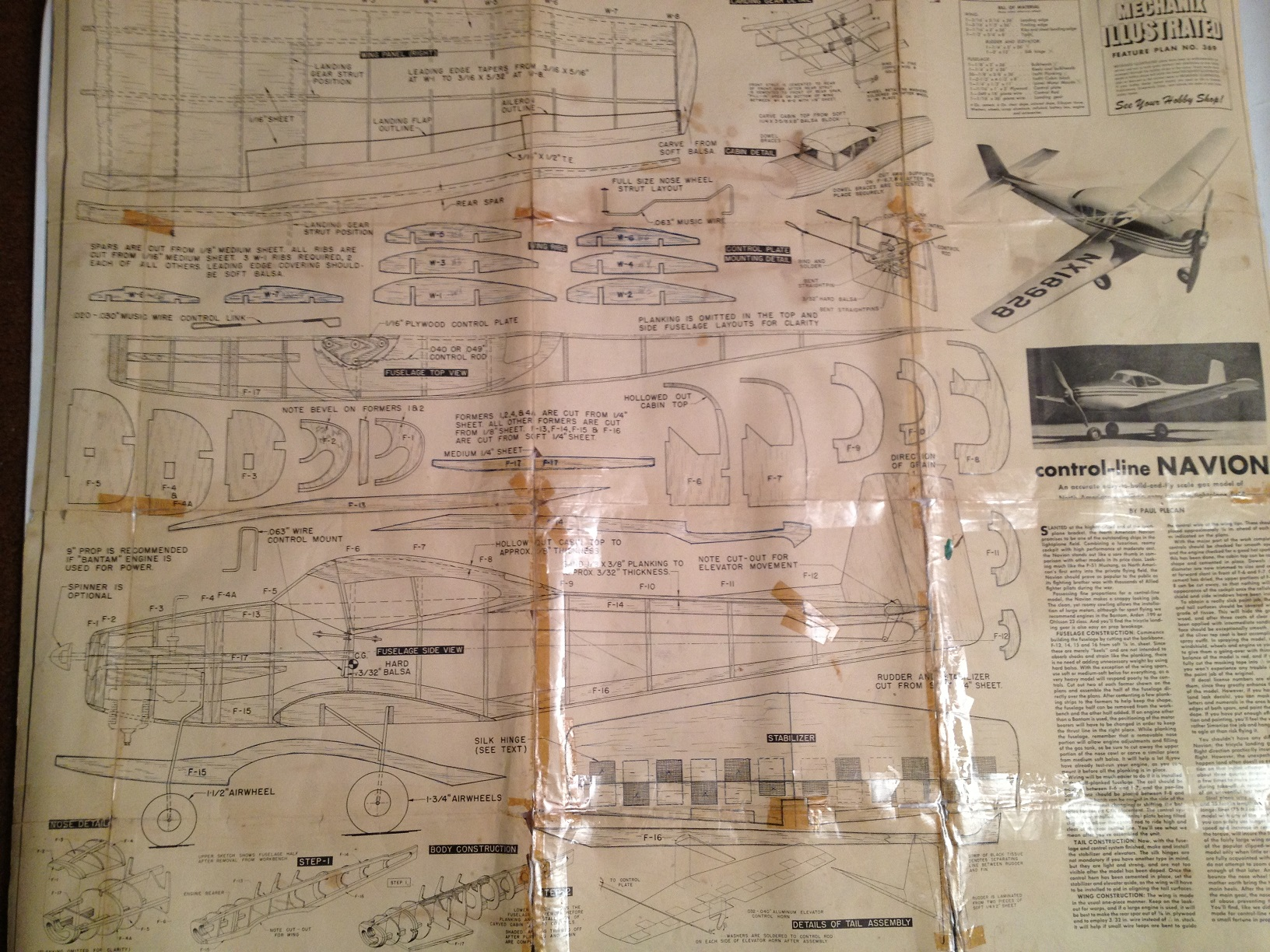 Scale Build Off - Ryan Navion from 1960's Control Line Plans