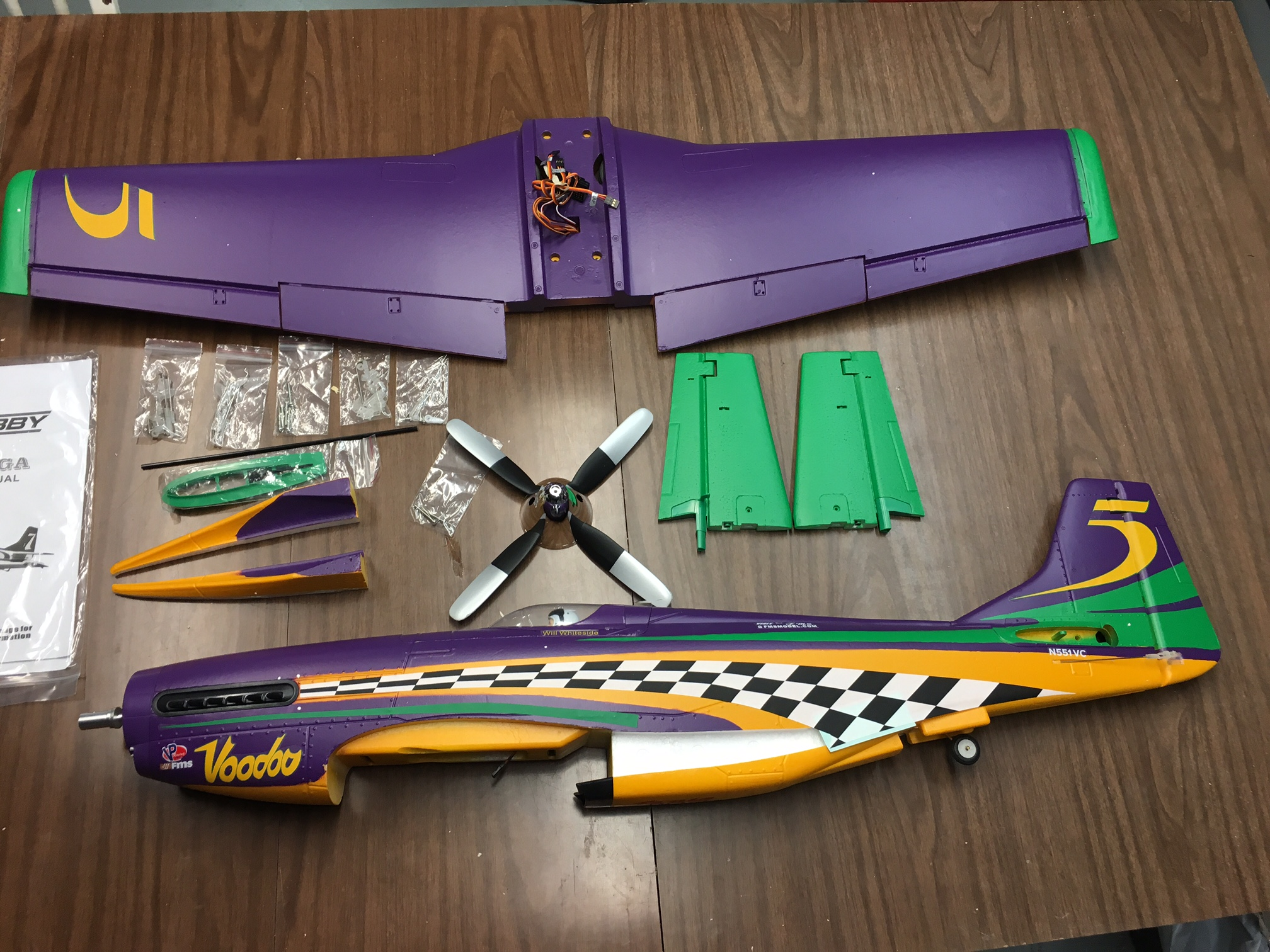 Madison : Voodoo p 51 rc plane