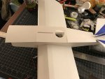 42 Begining to install the posterboard upper fuselage Mar 17, 11 28 56 PM.jpg