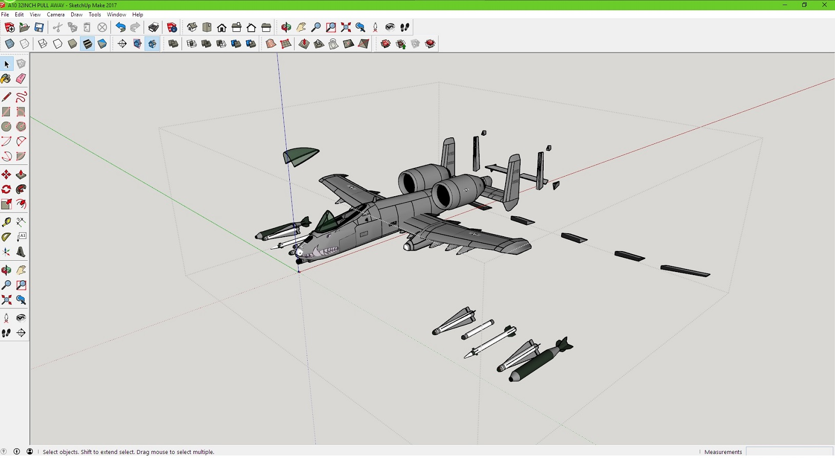 need help    sketchup 3d modeling rc plane to 3d print