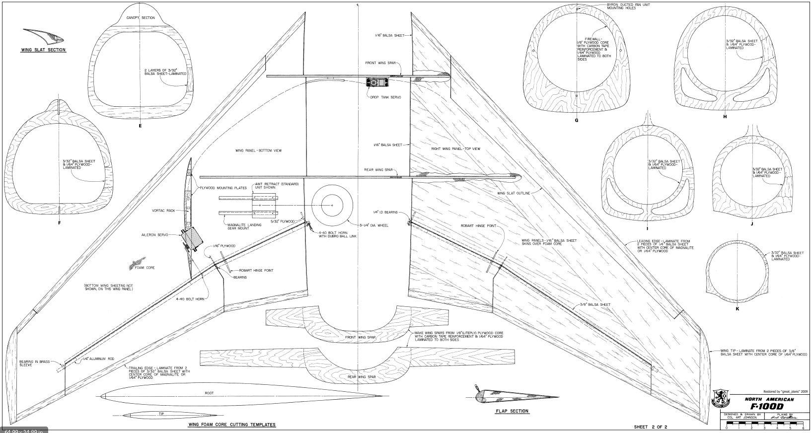F-100 Super Sabre 1/8th Build (70