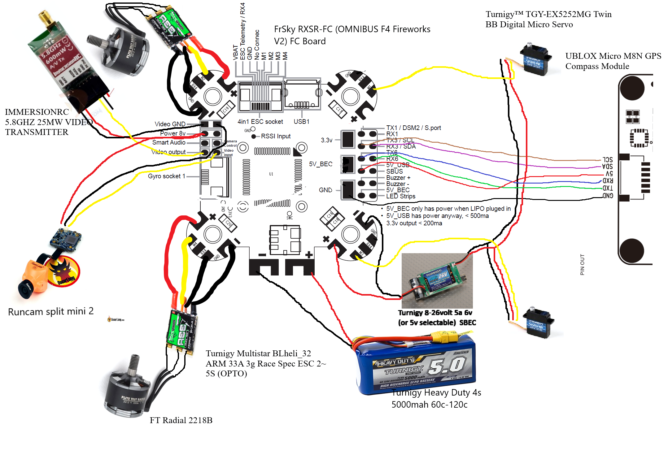 Fpv Gps Guided Kraken Build  Wiring Help For Rxsr