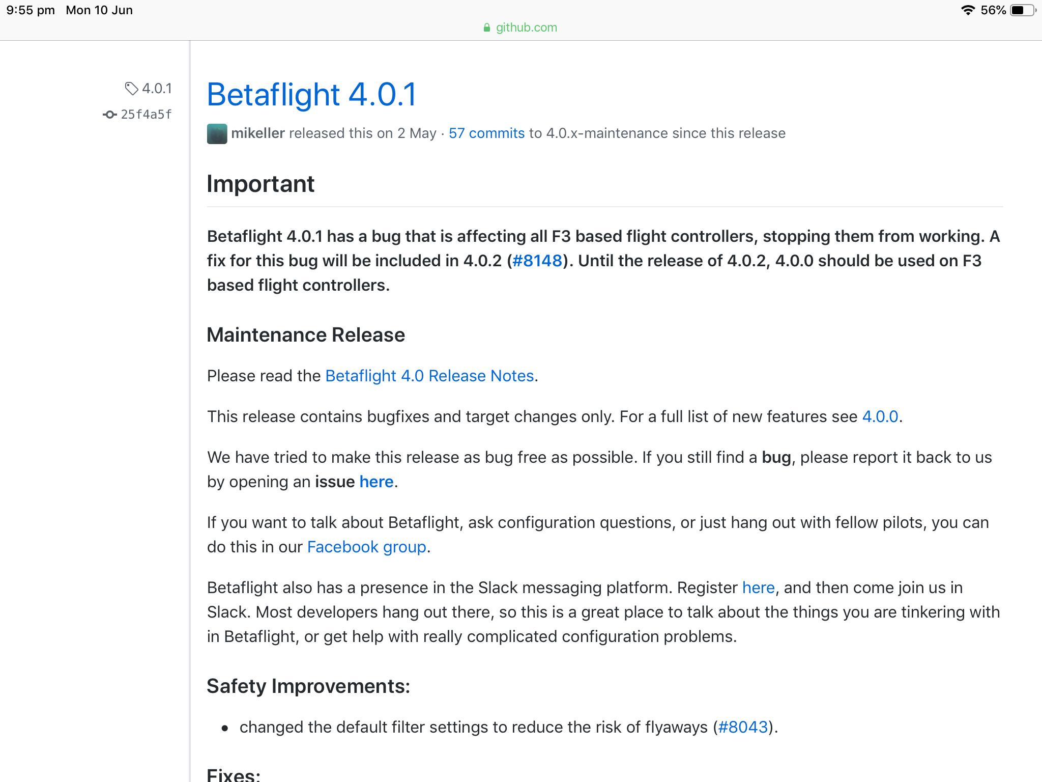 Help! - Betaflight not connecting to board | FliteTest Forum