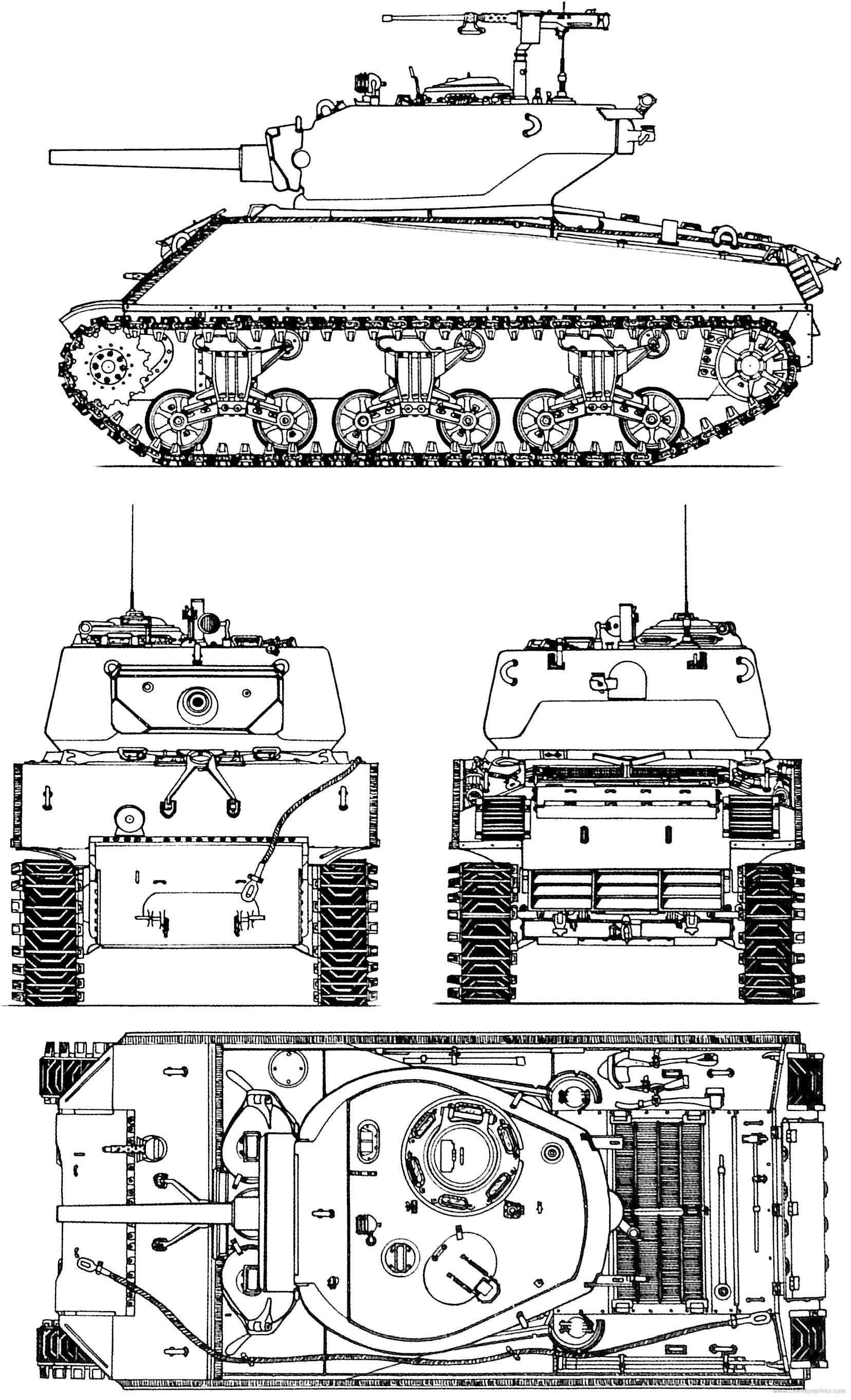 M4A3E2 Sherman blueprints.png